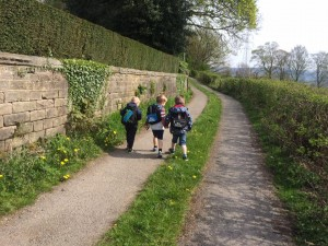 Picture of some of the children out walking
